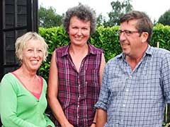 Carol Klein with Steph & Brian at Avondale Nursery.